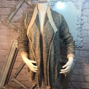 Elan Cardigan Anthropologie Sweater Metalic Lurex